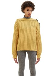 Acne Studios Holden Chunky Knit Sweater Yellow