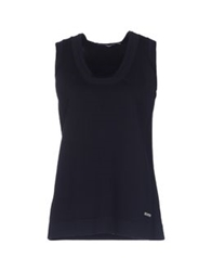 Xandres Sleeveless Sweaters Dark Blue