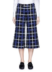 Xu Zhi Threaded Tartan Check Wide Leg Pants Multi Colour