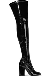 Laurence Dacade Madison Patent Leather Over The Knee Boots Black