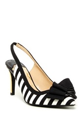 J. Renee Marva Striped Slingback Pump Wide Width Available Black