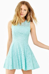 Kimchi And Blue Kimchi Blue Lace Sheer Fit Flare Dress Mint