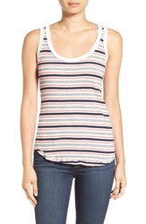 Stateside Women's Stripe Rib Knit Tank Cream
