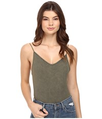 Free People Basic Seamless Bodysuit Moss Women's Jumpsuit And Rompers One Piece Green