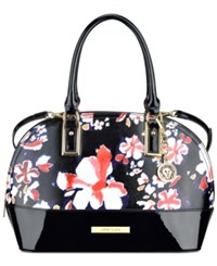 Anne Klein Shimmer Down Large Dome Satchel Sorbet Pink Multi Black