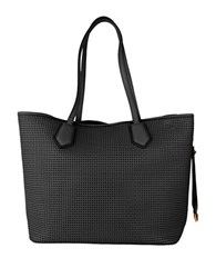 Cole Haan Abbot Perforated Leather Tote Black