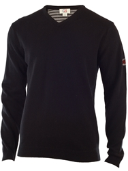 Cutter And Buck Lambswool V Neck Sweater Black