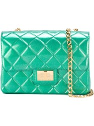 Designinverso 'Milano Metal' Crossbody Bag Green