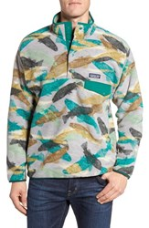 Patagonia Men's 'Synchilla Snap T' Pullover Trout Tails Legend Green