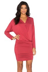 Krisa Surplice Sheered Mini Dress