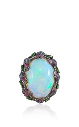 Lydia Courteille Opal Ring White