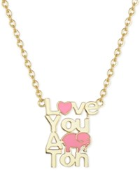 Victoria Townsend Lily Nily Enamel Love You A Ton Pendant Necklace In 18K Gold Over Sterling Silver