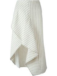 3.1 Phillip Lim Asymmetric Pinstripe Skirt Nude And Neutrals
