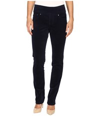 Jag Jeans Peri Pull On Straight 18 Wale Corduroy Midnight Women's Navy