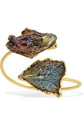 Dara Ettinger Gold Plated Kyanite Cuff Metallic