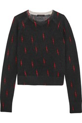 Kate Moss For Equipment Ryder Printed Cashmere Sweater Black