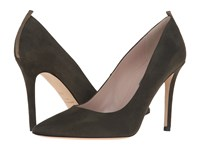 Sarah Jessica Parker Fawn 100Mm Turf Olive Suede Women's Shoes