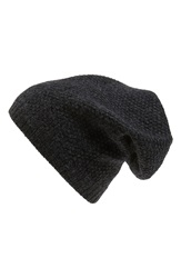 Sole Society Wool Knit Beanie Charcoal