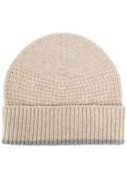 Johnstons Of Elgin Beige Cashmere Beanie