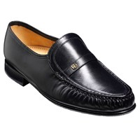 Barkers Jefferson Leather Moccasin Shoes Black