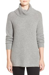 Nordstrom Wool And Cashmere Turtleneck Sweater Grey Filigree Heather