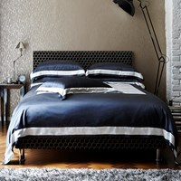 Gingerlily City Silk Cotton Duvet Cover Slate Super King
