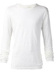 Isabel Benenato Cut Out Neck Detail Sweater