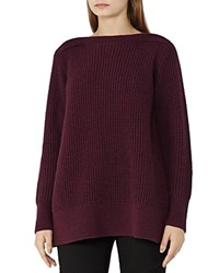 Reiss Palmira Crossover Back Sweater Berry