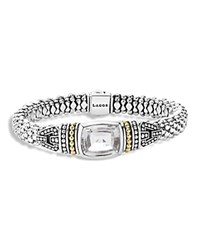 Lagos 18K Yellow Gold And Sterling Silver Glacier Bracelet With White Topaz White Silver