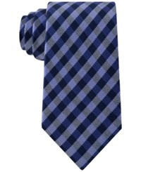 Club Room Men's Gingham Tie Only At Macy's Royal Blue