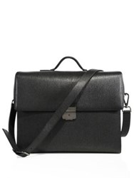 Salvatore Ferragamo Minimalist Briefcase Black White
