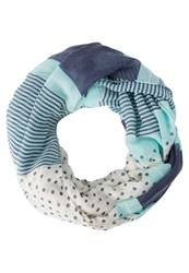 Evenandodd Snood Turquoise Navy