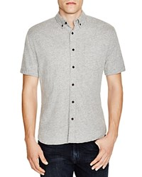 Surfside Supply Heathered Knit Regular Fit Button Down Shirt Heather Grey