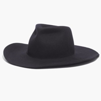 Biltmore And Madewell Floppy Felt Fedora Deep Navy