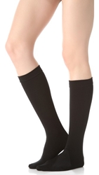 Plush Fleece Lined Knee High Socks Black