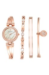 Women's Anne Klein Boxed Bracelet And Bangle Watch Set 24Mm