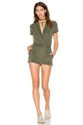 Yfb Clothing Tux Romper Olive