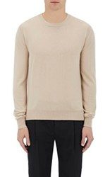 Christophe Lemaire Men's Ribbed Detail Cashmere Sweater Beige Tan Beige Tan
