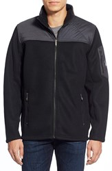 Spyder 'Rambler' Zip Front Sweater Black