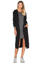 Nytt Long Hooded Jacket Black