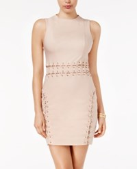 Guess Miranda Lace Up Bodycon Dress Rugby Tan