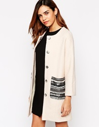 Jovonna Assis Coat With Pocket Detail Cream