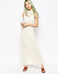 Hazel Lace Maxi Dress Cream White
