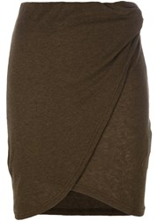Iro Wrap Front Mini Skirt Green