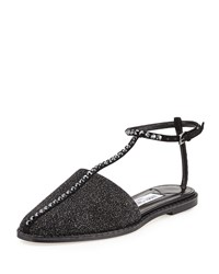 Jimmy Choo Gizma Crystal Studded Flat Closed Toe Sandal Women's