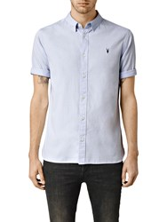 Allsaints Redondo Half Sleeve Shirt Light Blue