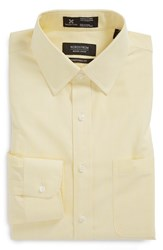 Men's Big And Tall Nordstrom Smartcare Traditional Fit Stripe Dress Shirt Yellow Primrose