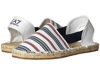 Emporio Armani Summer Splash Espadrillas White Navy Red Women's Shoes Multi