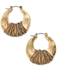 Inc International Concepts Gold Tone Wire Wrapped Hoop Earrings Only At Macy's