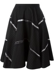 Antonio Marras Pinstripe Skirt Black